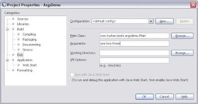 Netbeans IDE Blog by Tushar Joshi, Nagpur: Using Command Line