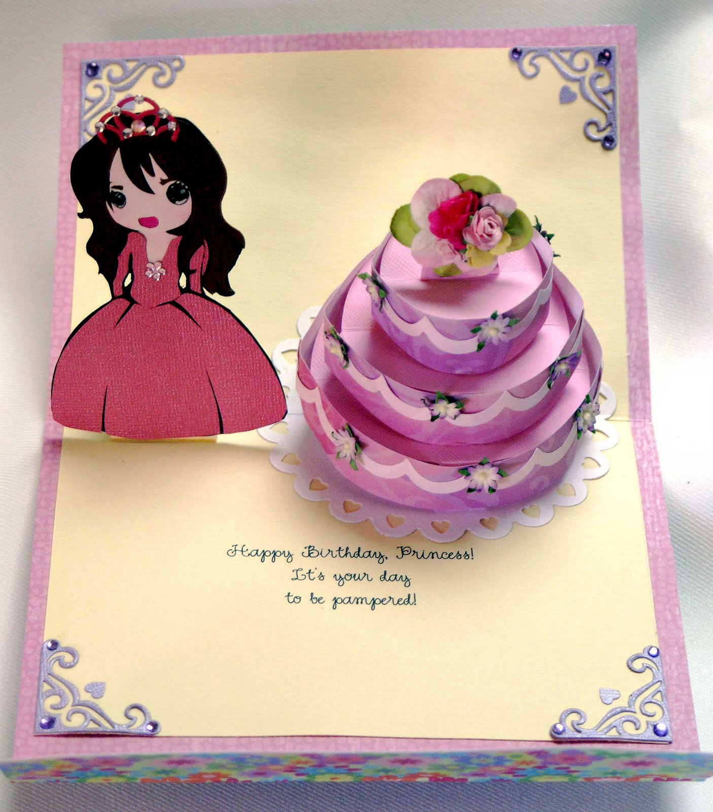 Heres The Second Pop Up Cake Card I Made This One For Dds Birthday She Celebrated Her 25th Year But To Dh And Myself Is Always