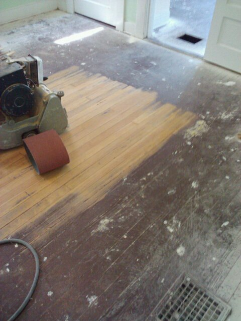 Refinished Wood Floors Previously Under Carpet