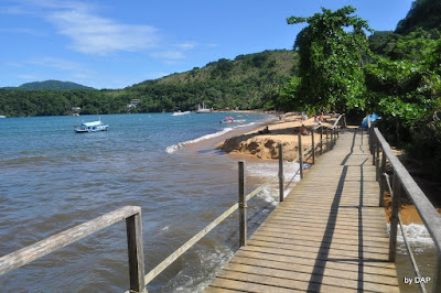chegada enseada praia de palmas trilha  ilha grande