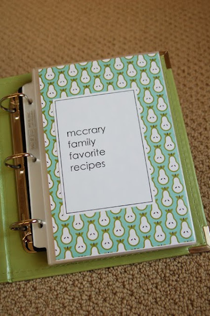 Choose One Pattern For Each Of Your Categories In The Table Contents Punch A 1 Circle And Adhere Right Over On Template