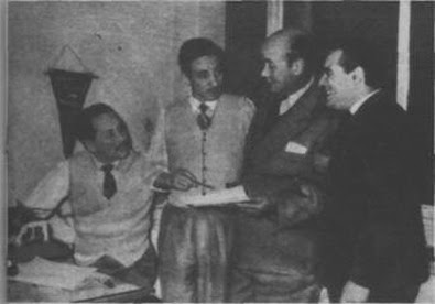Osvaldo Manzi, Catulo Castillo, Roberto Casinelli y Angel Di Rosa