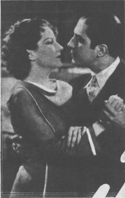 Carlos Gardel con la actriz Blanca Vischer en una escena de ElTango en Broadway