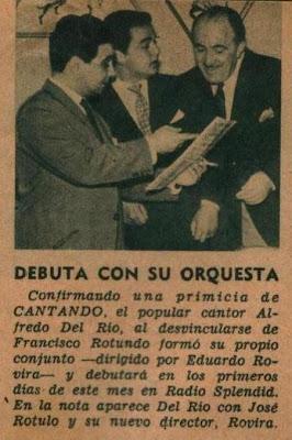 Alfredo del Río, con José Rotulo y Eduardo Rovira