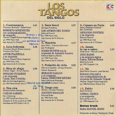 El Tango y sus invitados: 11/10/09 - 18/10/09