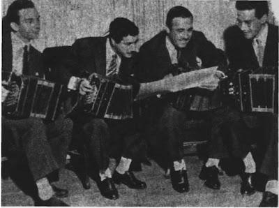 Cuarteto de bandoneones a capella integrado por Alfredo Marcucci, Ernesto Franco, Julián Plaza y Atilio  Corral