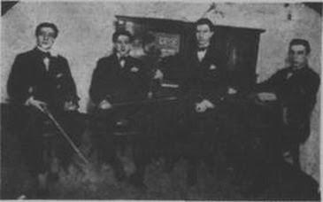 Minotto Di Cico en mayo de 1917, cuando codirigía la orquesta Alonso-Minotto