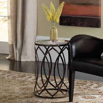Grandin Road Garner Steel Barrel Accent Table Copycatchic