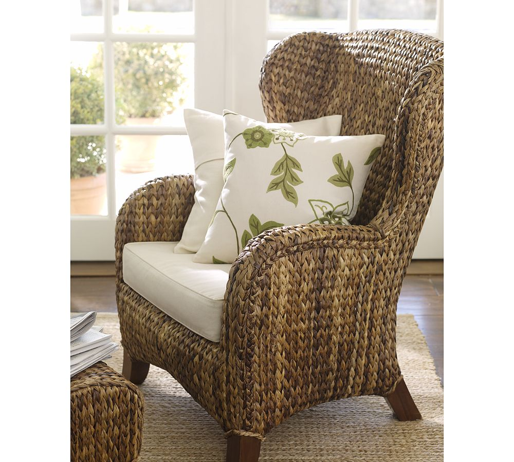Pottery Barn Seagrass Wingback Chair - copycatchic