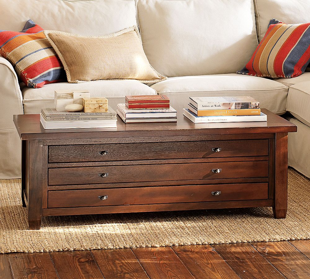 Pottery Barn Map Coffee Table Copycatchic
