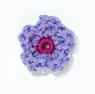 crochet flower appliqué tutorial