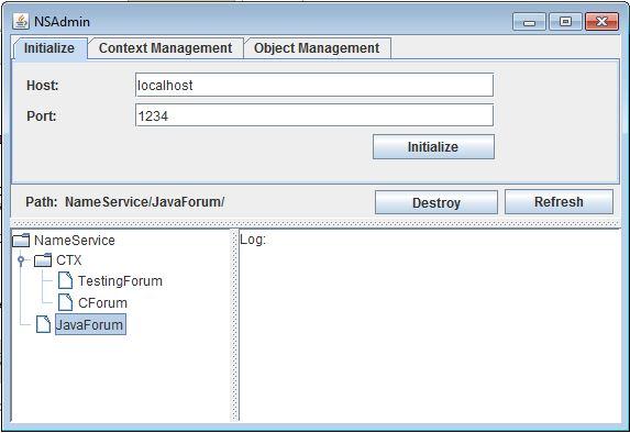 CORBA - Java Naming Service, manipulating contexts – Jan