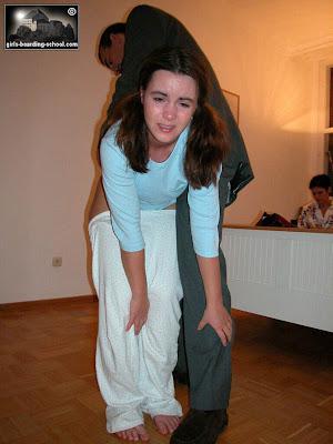 Femdom adult bare bottom stroping