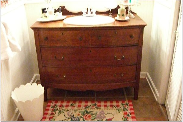 By your hands trash to treasure repurposing old dressers - Bathroom vanities made from old dressers ...