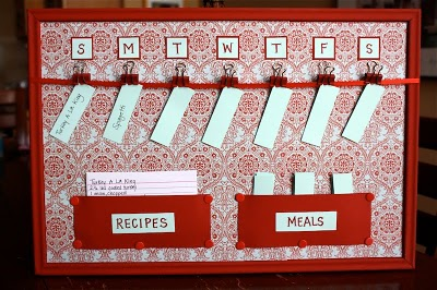 By Your Hands: Organizing - Meal Planning Ideas