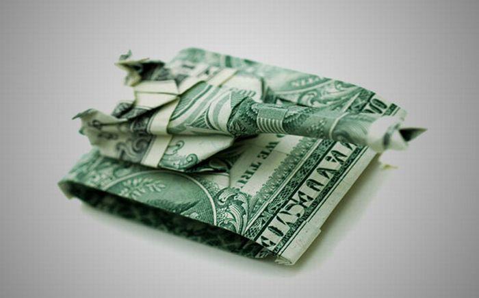 Origami Elephant Dollar