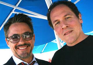Jon%2BFavreau%2Band%2BRobert%2BDowney%2BJnr - Jon Favreau no regresará a dirigir Iron Man 3.