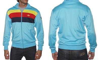 timeless design official images fast delivery Les3bandes: Veste Adidas Originals Bleu ciel, bandes jaune ...