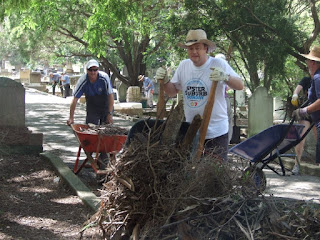 The good work of a volunteer group is paid back when the community pitched in to clean up a cemetery after big flooding.