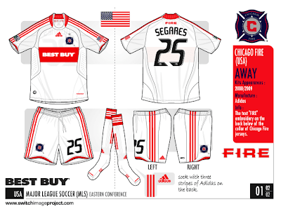 Chicago Fire away kits same design that will be used for home 29966827a