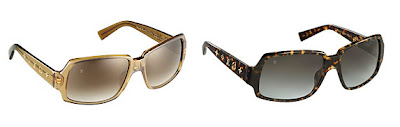 c18e2141039f5 Here are some new sunglasses from Louis Vuitton called the Obsession  Square. They come in both gold and tortoise and feature the LV monogram  symbols along ...