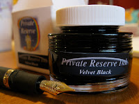 Private Reserve Velvet Black Fountain Pen Ink Review