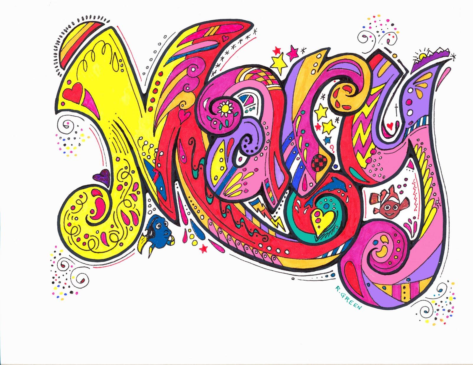 Name Art: Organized Doodles: September 2010