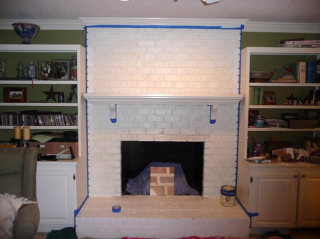 Outstanding Painting Brick Fireplace From White To Beautiful Home Interior And Landscaping Analalmasignezvosmurscom