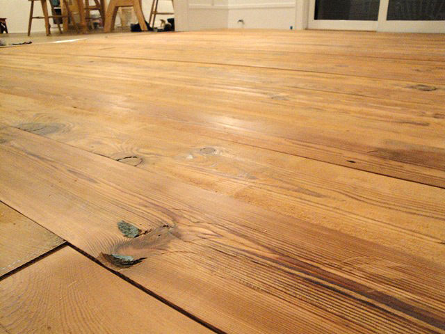 Installing the antique heart pine flooring pretty handy girl save solutioingenieria Gallery