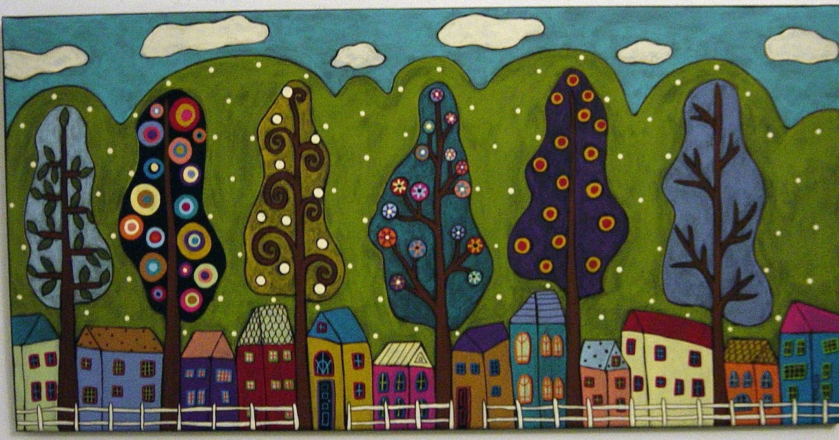 Karla Gerard Art Houses Amp Trees Painting By Karla G