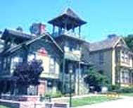 Heritage Park Victorian Village in San Diego, California