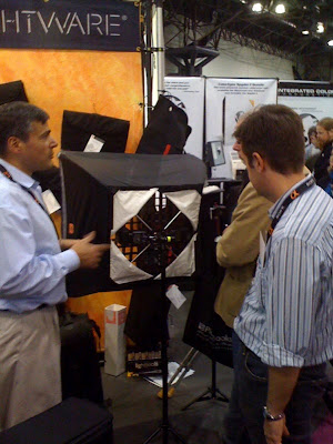 FourSquare at the Lightware Booth in NYC