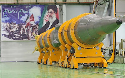 Photo of Iranian ballistic missile - nuclear capable