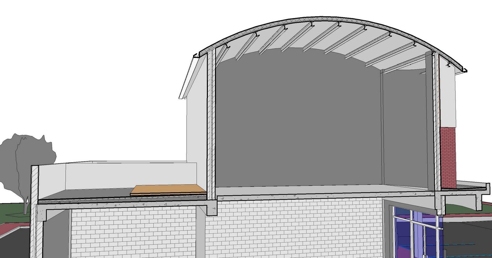 Curved Roofs Revit Amp Revit Nadderudhallen Below Lsb