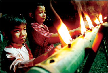 Lampu Likur Bambu