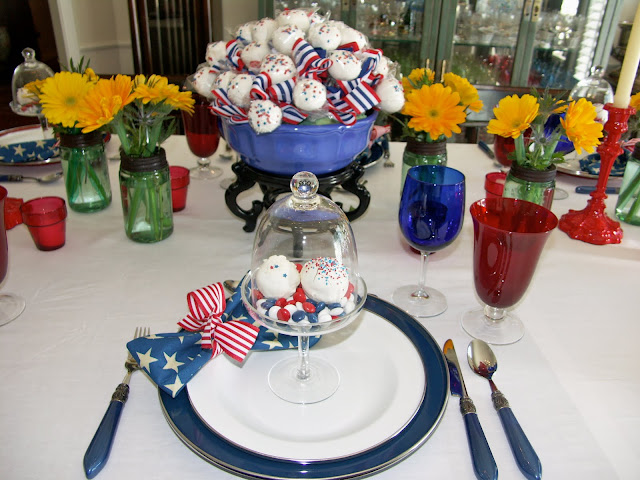 Red White And Blue Luncheon Entertaining Women