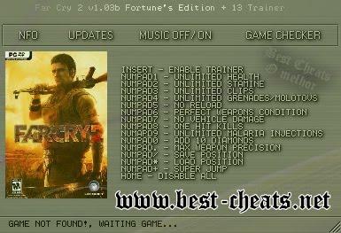 Far Cry 2 Codes