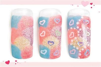 Diseños de uñas para San Valentín