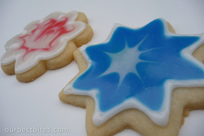 star and flower cookies