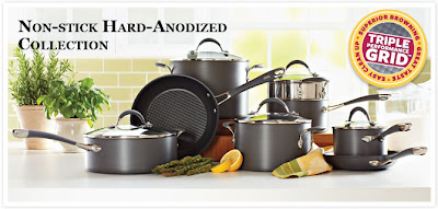 non stick hard anodized collection of pots and pans