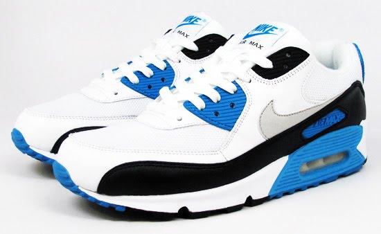 Nike Air Max 90 'Laser Blue' WhiteBlack Zen Grey