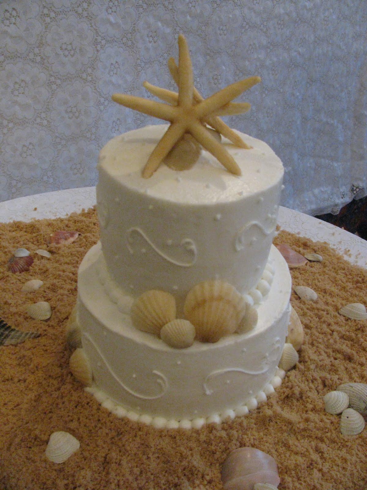 The Dessert Box: Beach Wedding Cake / Keller Wedding