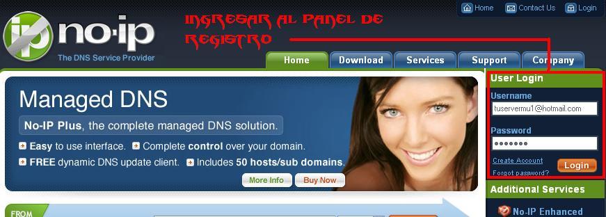 registro de un dominio