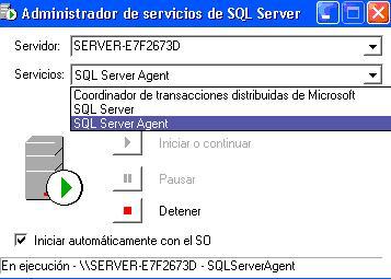 Inicio de SQL Server Agent