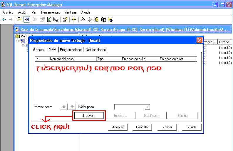 Nuevo trabajo SQL