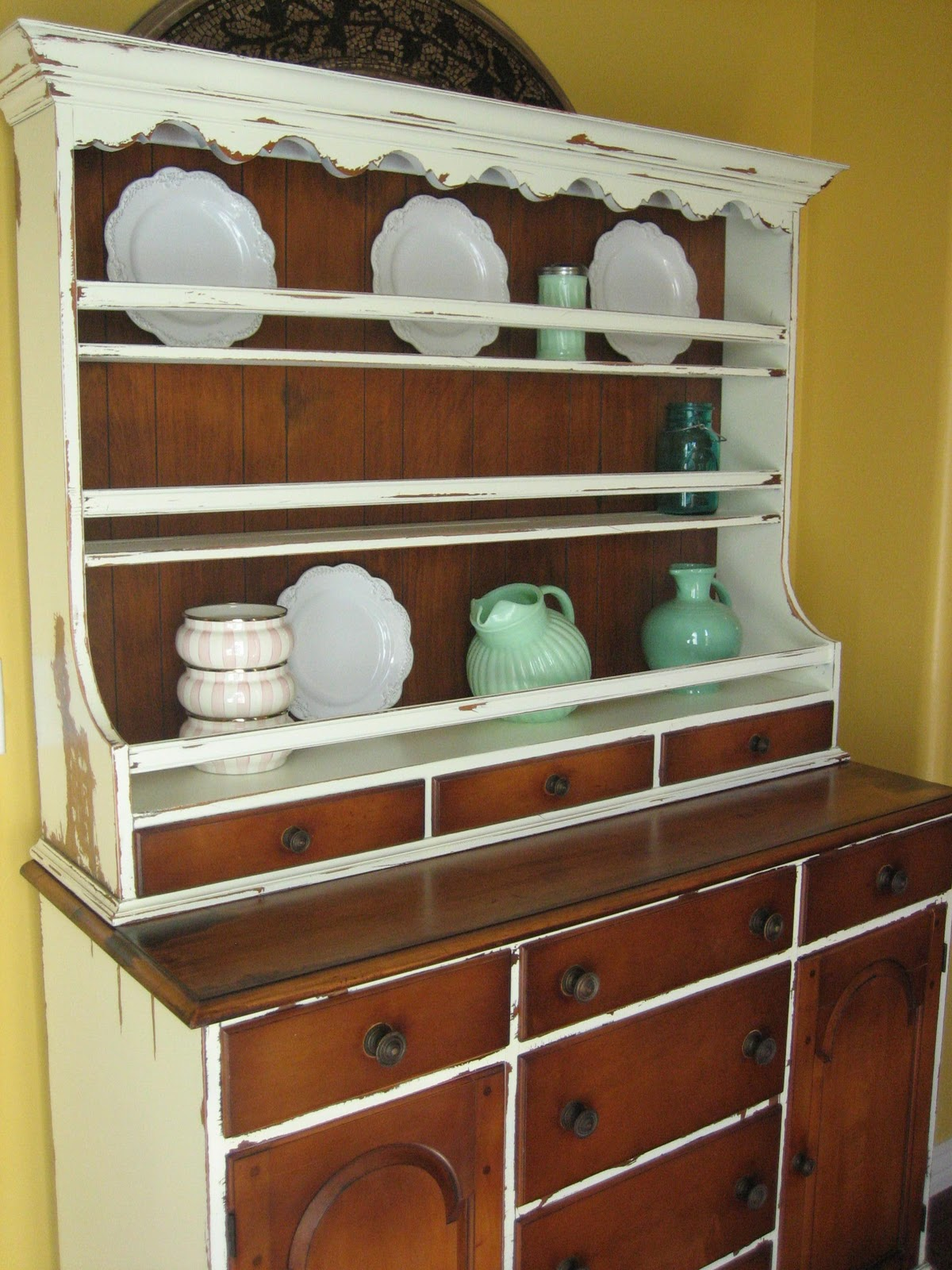 European Paint Finishes Rustic French Farmhouse Hutch