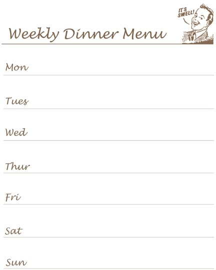 dinner menu template for home reclaiming the home printable what 39 s for dinner list