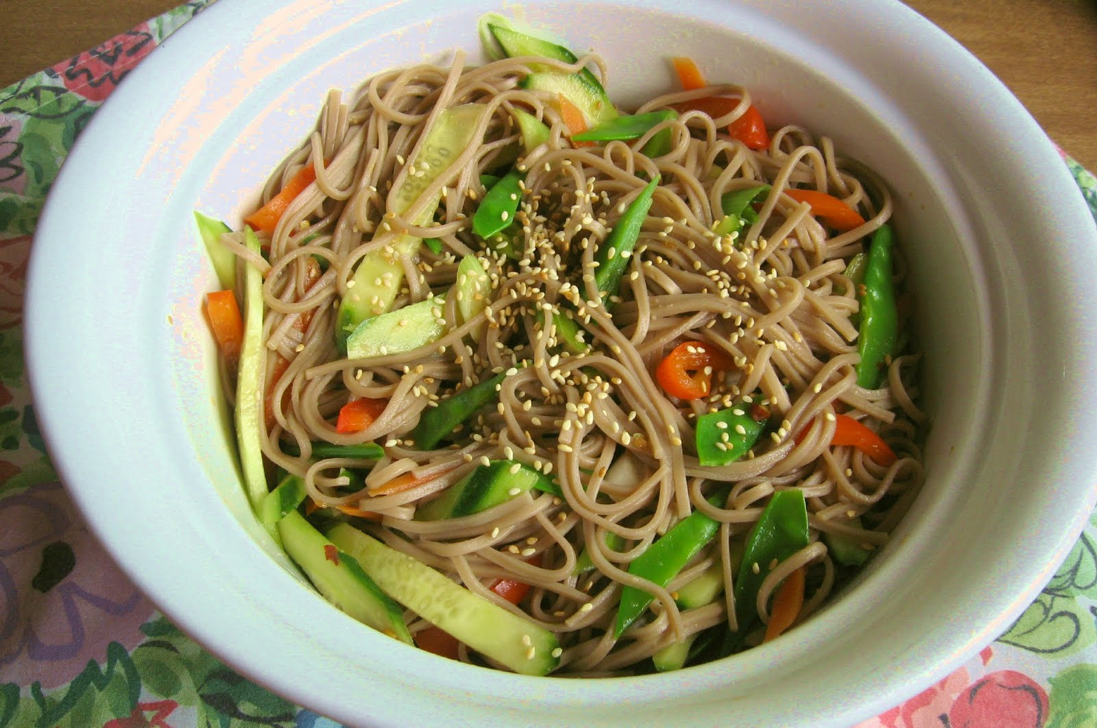 The Days Are Just Packed!: Cold Soba Noodles and Vegetables