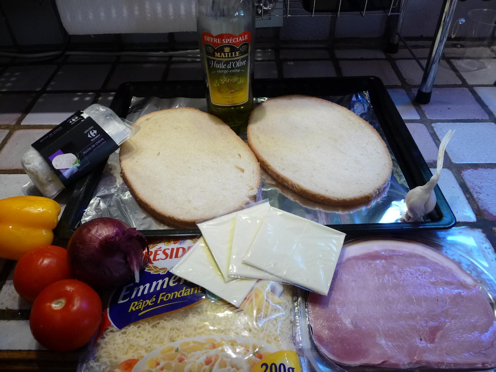 bruschetta jambon cru chèvre