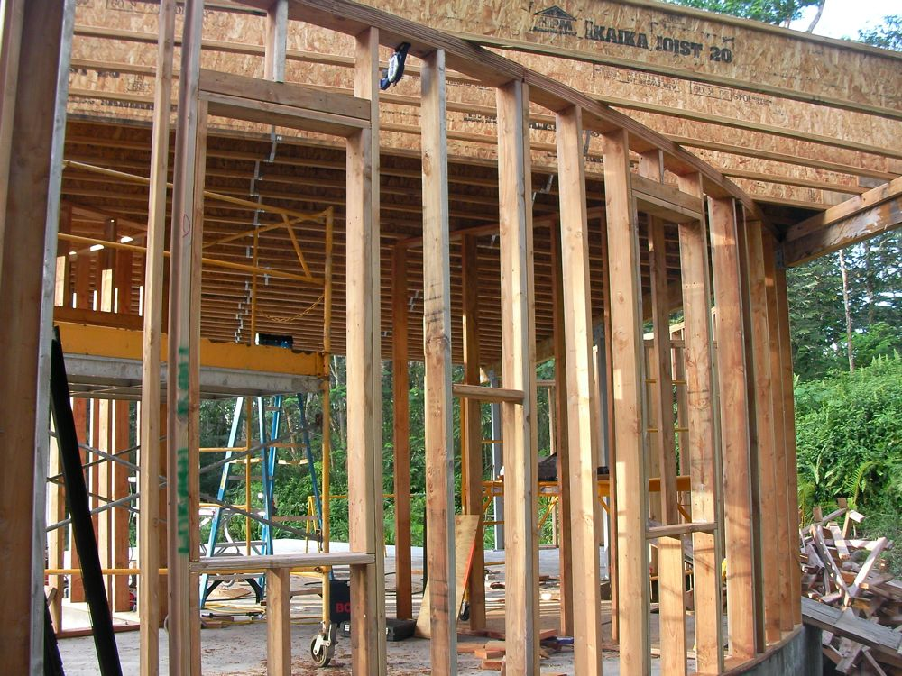 Hawaii House Build We Re Back To Building Walls And Windows